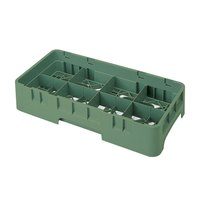 Cambro 8HS800119 Sherwood Green Camrack 8 Compartment Half Size 8 1/2 inch Glass Rack
