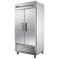 True TS-35 40 inch Stainless Steel Two Section Reach In Refrigerator - 35 Cu. Ft.