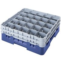 Cambro 25S1058168 Camrack 11 inch High Blue 25 Compartment Glass Rack