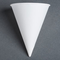 Dart Solo 42R-2050 Bare Eco-Forward 4.25 oz. White Rolled Rim Paper Cone Cup with Chipboard Box Packaging - 5000 / Case