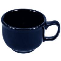 Homer Laughlin 149105 Fiesta Cobalt Blue 18 oz. Jumbo Cup - 12 / Case