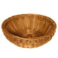 GET WB-1512-H 11 1/2 inch x 3 1/2 inch Designer Polyweave Honey Round Basket   - 12/Case