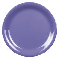 6 1/2 inch Purple Narrow Rim Melamine Plate 12 / Pack