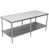 Advance Tabco SPT-2410 Poly Top Work Table 24 inch x 120 inch with Undershelf
