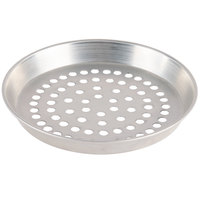 American Metalcraft SPADEP14 14 inch x 1 inch Super Perforated Standard Weight Aluminum Tapered / Nesting Deep Dish Pizza Pan