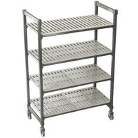 Cambro Camshelving Premium CPMS244867V4480 Mobile Shelving Unit with Standard Casters 24 inch x 48 inch x 67 inch - 4 Shelf