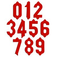 1 inch Plastic Red Deli Tag Insert Numbers 0 to 9 - 50 of Each Number