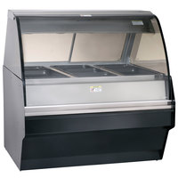 Alto-Shaam TY2SYS-48 BK Black Heated Display Case with Curved Glass and Base - Full Service 48 inch
