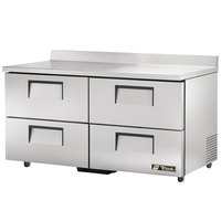 True TWT-60D-4-ADA 60 inch Deep ADA Compliant Work Top Refrigerator with Four Drawers - 15.9 Cu. Ft.