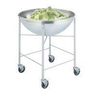 Vollrath 79818 Stainless Steel Mobile Mixing Bowl Stand with 80 Qt. Mixing Bowl