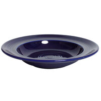 Tuxton Concentrix CCD-090 Cobalt - 12 oz. 9 inch Rim China Soup / Pasta Bowl 24/Case