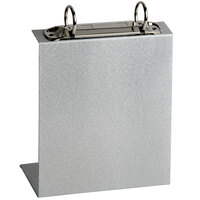 Menu Solutions MT2R-TOPA Aluminum Menu Tent with Top Rings - Brushed Finish - 6 inch x 6 3/4 inch