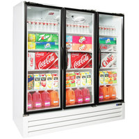 Master Bilt BMG-74-HGP Three Section Swing Glass Door White Merchandiser Refrigerator - 70.2 Cu. Ft.