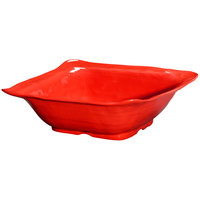 GET ML-132-R New Yorker 15 inch Square Bowl - Red