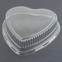 Genpak 95H09 Bake 'N Show Clear Dome Lid for 55H09 Dual Ovenable 9 inch Heart Shape Cake Pan - 200 / Case