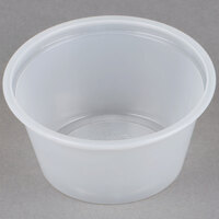 Choice 2 oz. Polystyrene Souffle Cup / Portion Cup - 2500 / Case