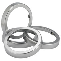 San Jamar C24XC EZ-Fit Metal Finish Rings - 2 / Pack