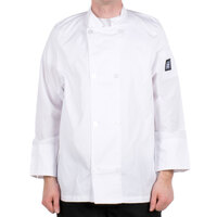 Chef Revival J049-XS Cool Crew Size 36 (S) White Customizable Poly-Cotton Long Sleeve Chef Jacket