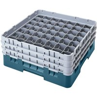 Cambro 49S1114414 Teal Camrack 49 Compartment 11 3/4 inch Glass Rack