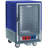 Metro C535-MFC-4-BU C5 3 Series Heated Holding and Proofing Cabinet with Clear Door - Blue