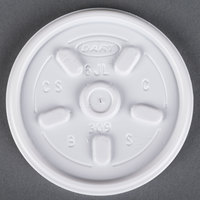 Dart Solo 6JL White Vented Lid 1000/Case
