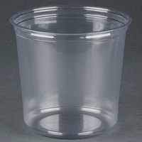 Fabri-Kal RD24 24 oz. Recycled Customizable Clear PET Plastic Round Deli Container - 50/Pack