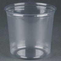 Fabri-Kal RD24 24 oz. Recycled Customizable Clear PET Plastic Round Deli Container - 50 / Pack