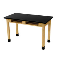 National Public Seating SLT2460-36-BC 24 inch x 60 inch Science Lab Table with Built-In Book Compartments - 36 inch Height