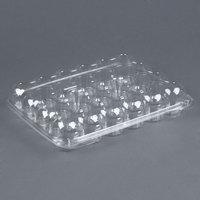 24 Compartment Clear Hinged Lid Mini Cupcake Container - 110 / Case
