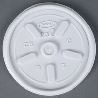 Dart Solo 10JL White Vented Lid - 100/Pack