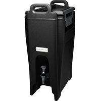 Cambro UC500110 Ultra Camtainer 5.25 Gallon Black Insulated Beverage Dispenser