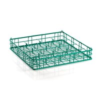 16 Compartment Catering Glassware Basket - 4 1/2 inch x 4 1/2 inch x 3 inch Compartments