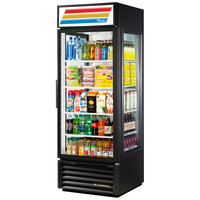 True GEM-23-LD Black Glass End Merchandiser - 23 Cu. Ft.