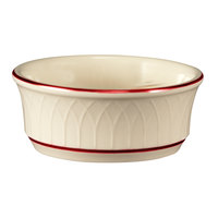 Homer Laughlin Gothic Red Jade 12.5 oz. Off White China Nappie Bowl - 24/Case