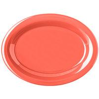 Carlisle Durus 12 inch 4308252 Sunset Orange Oval Melamine Platter - 12/Case