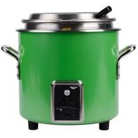 Vollrath 7217235 Green Apple Finish Retro 11 qt. Stock Pot Kettle Rethermalizer - 120V,1450W