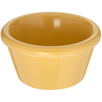Carlisle 085222 2 oz. Honey Yellow Smooth Plastic Ramekin - 72/Case