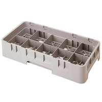 Cambro 10HS434184 Beige Camrack 10 Compartment 5 1/4 inch Half Size Glass Rack
