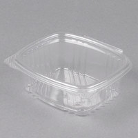 Genpak AD12 5 3/8 inch x 4 1/2 inch x 2 inch 12 oz. Clear Hinged Deli Container - 200/Case