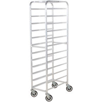 Winholt AL-1212 End Load Aluminum Platter Cart - Twelve 12 inch Trays