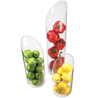 Cal-Mil 1324-24 6 inch x 24 inch Sloped Clear Plastic Accent Display Vase