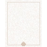 8 1/2 inch x 14 inch Menu Paper - Tan Shell Border - 100 / Pack