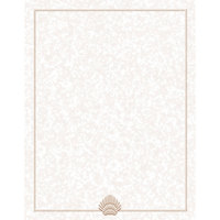 8 1/2 inch x 14 inch Menu Paper - Tan Shell Border - 100 / Pack