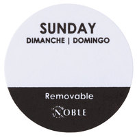 Noble Products Sunday 1 inch Removable Day of the Week Dot Label - 1000/Roll