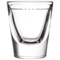 Libbey 5121/S0711 1.25 oz. Fluted Whiskey / Shot Glass with .875 oz. Cap Line - 12/Pack