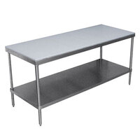 Advance Tabco SPT-246 Poly Top Work Table 24 inch x 72 inch with Undershelf