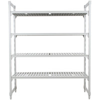 Cambro Camshelving Premium CPU184872V4480 Shelving Unit with 4 Vented Shelves 18 inch x 48 inch x 72 inch
