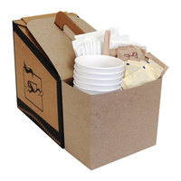 LBP 7139 Coffee Take Out Container Service Caddy for 96 oz. Take Out Containers - 5/Pack
