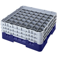 Cambro 49S638186 Navy Blue Camrack 49 Compartment 6 7/8 inch Glass Rack
