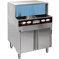CMA Dishmachines GW-100 Low Temperature Chemical Sanitizing Undercounter Glass Washer - 120V